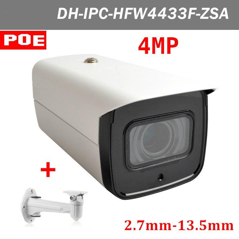 4MP английская версия DH IPC-HFW4433F-ZSA 2,7 мм ~ 13,5 мм Моторизованный объектив H.265 IP-камера POE и 128 г хранения