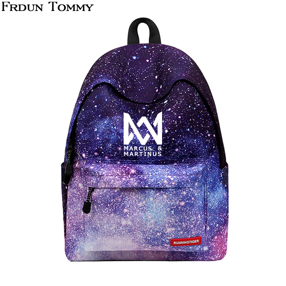 Marcus And Martinus Backpack Printing Women School Bags Laptop Backpack Rugtas Mochila Escolar Marcus Martinus New Arrival