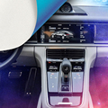 Аксессуары для стайлинга автомобилей 1 комплект салон  Торпедо положение шестерни Защитная пленка крышка для Porsche Panamera 971 2017 2018