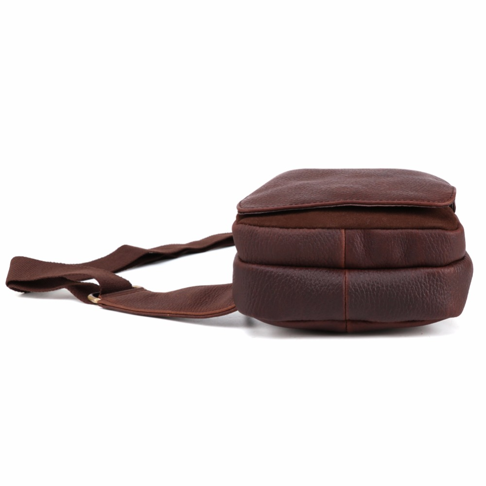 JOYIR Man 39 s Messenger Bag Men Shoulder Genuine Leather Chest Bags Crossbody Business Shoulder Messenger Bags Male Chest Pack 571 in Waist Packs from Luggage amp Bags