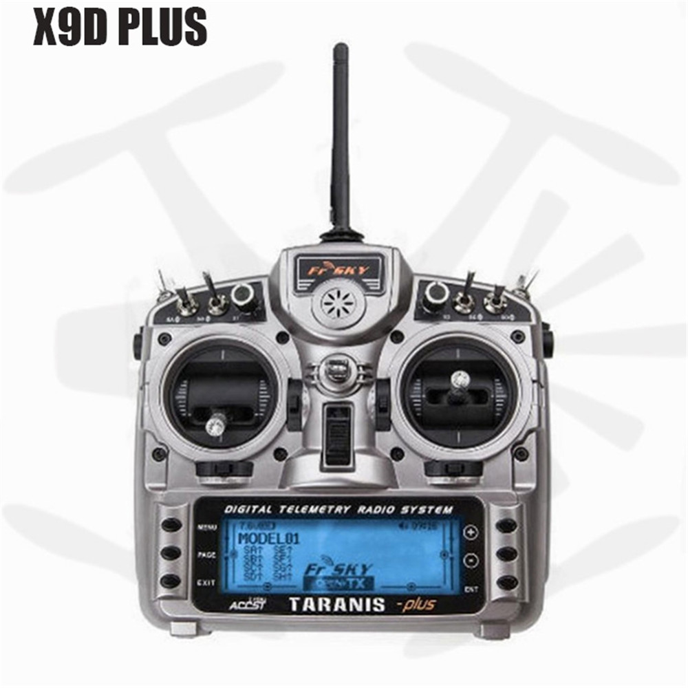 FrSky Taranis X9D Plus Transmitter 16CH RC Controller with X8R Receiver RC Quadcopter Parts frsky accst taranis x9d plus 16ch 2 4ghz transmitter with x8r receiver mode 2 for racing drone
