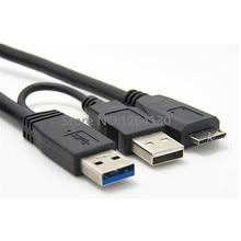 60 см Новое поступление USB 3,0 A Y USB 2,0 мужчина к Micro B Кабель питания для мобильного жесткого диска Мобильный HDD SSD