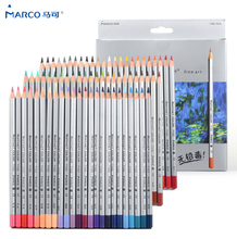 MARCO 24/36/48/72 Professional Wood Colored Pencil Set Oil Color Pencils for School & Office Drawing Pencils Sketch Art Supplies luxury professional pencil set 24 36 48 72 100 colored drawing pencils for sketch for adult and kids great art school supplies