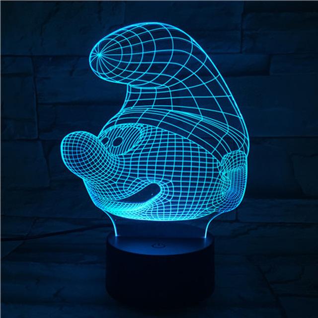 Assistente do sensor de toque LED de 7 cores mudança ilusão 3D CONDUZIU a lâmpada luz USB para toy kids presentes Nightlight lâmpada de mesa de Leitura IY803408