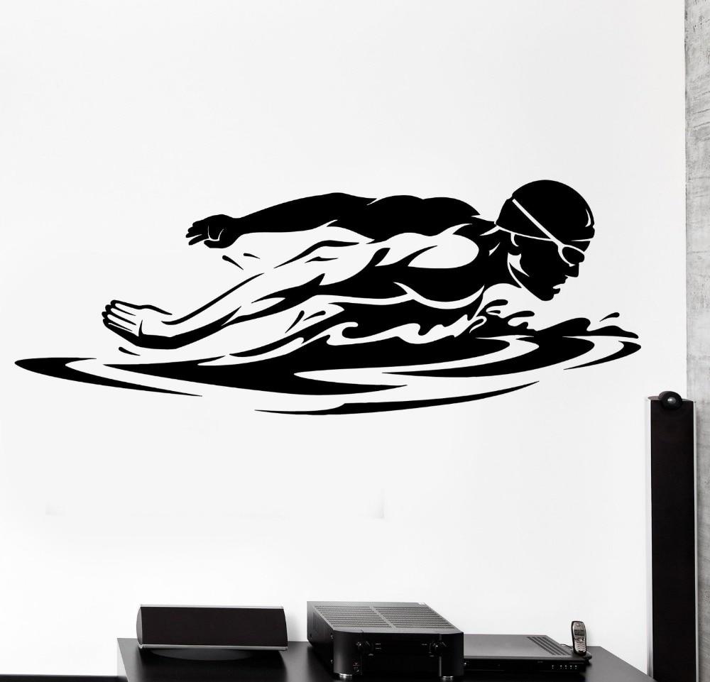 Swim Wall Decal Sport Swim Swimming Swimmer Butterfly