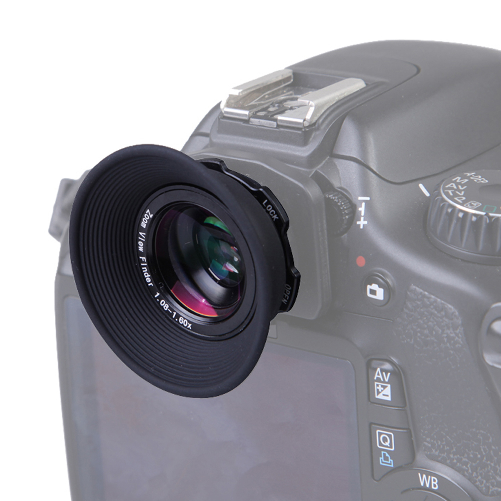 1.08x-1.60x Zoom Viewfinder Eyepiece Magnifier for Canon 5D Mark III II 7D 550D 60D 450D 600D 650D 700D 1100D for Nikon D70 купить в Москве 2019