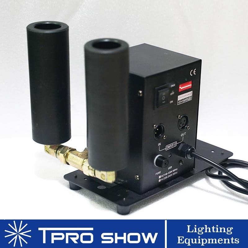 Mini Jet CO2 Cannon Double Nozzle Smoke Column Effect Machine DMX512 Control For Party Stage DJ Show