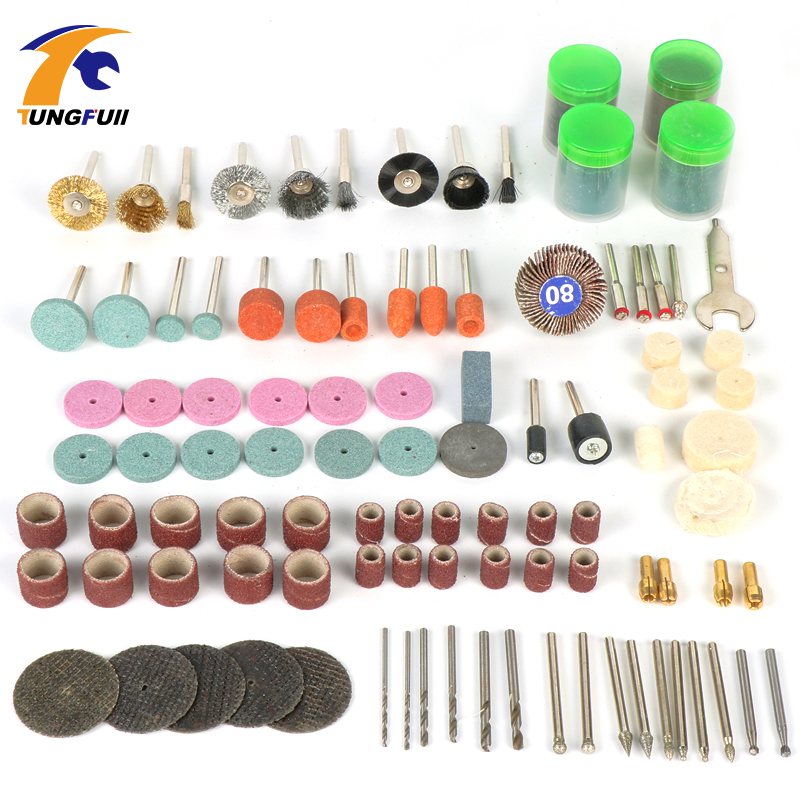 Tungfull Dremel Tools 161pcs Woodworking Polishing For Mini Drill Engraver Dremel Accessories Power Tool Accessories
