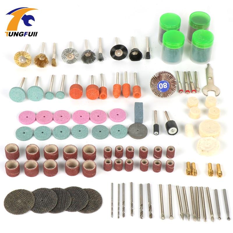 Tungfull Dremel Tools 161pcs Famegmunkáló polírozás mini fúrógravírozókhoz Dremel tartozékok Elektromos kéziszerszámok