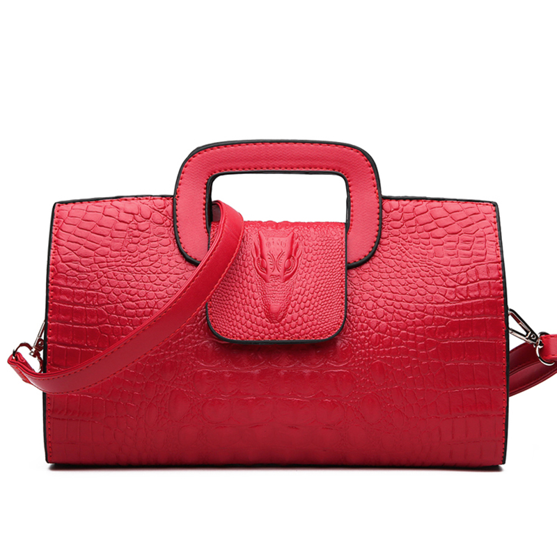 Image 4 - High Quality Crocodile Pattern Handbag New Fashion Personality Temperament Simple Shoulder Bag Wild Casual Messenger BagShoulder Bags   -