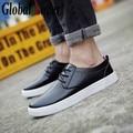 Global Lover Big Size Men Shoes Fashion Black Men Casual Shoes Genuine Leather Male Shoes Luxury Italian Brand Men Flats Shoes
