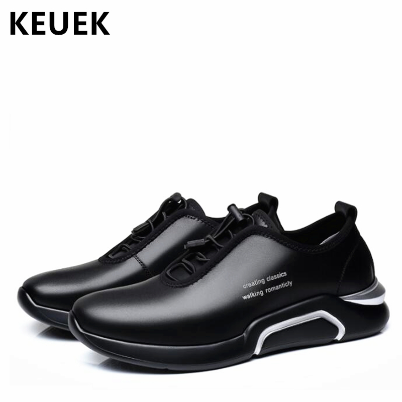Spring Autumn Men Casual shoes Genuine leather Breathable Male Sneakers Lace-Up Flats Sport shoes zapatos de hombre 02A spring ultra light mens shoes men casual leather mans footwear zapatos hombre presto lace up breathable air chaussure homme 95