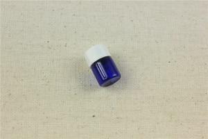 Image 3 - 100 unids/lote botella de aceites esenciales de cobalto de 1ml,2ml con tapa de plástico botella de vidrio de 2ml viales de vidrio azul con cuentagotas
