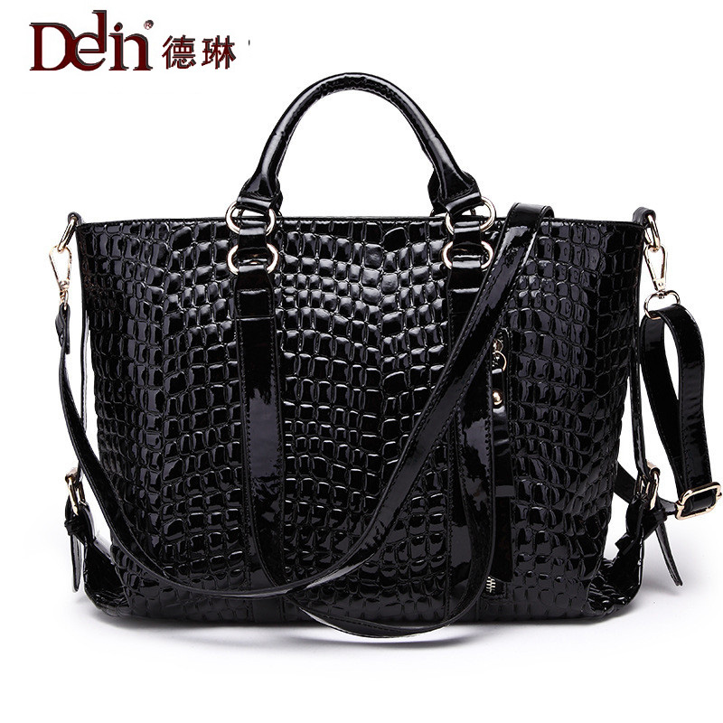 DELIN Foreign female bag bag handbag shoulder aslant crocodile grain lady handbags package a undertakes the new trend бумажные салфетки duni салфетки бумажные barbeque grill 3 слойные 33х33 см 20 шт
