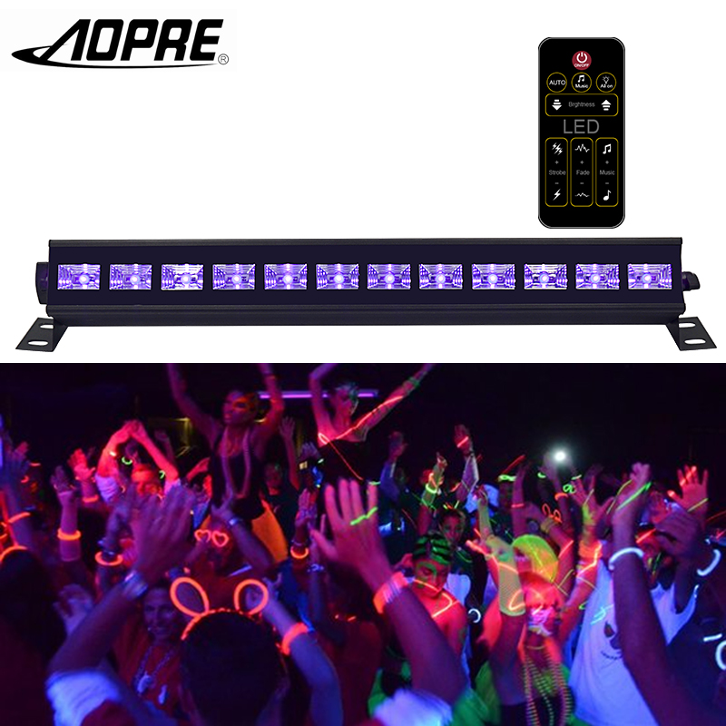 AOPRE UV Led Bar With Remote Control Stage Lighting Effect Disco Light DMX Laser Projection for DJ Party Indoor Laser Lights rg mini 3 lens 24 patterns led laser projector stage lighting effect 3w blue for dj disco party club laser