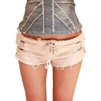2018 Spodenki Jeansowe Dla Kobiet Dorywczo Lato Sexy krótkie spodenki jeans Hole Solidna Ściągacze kobiety Moda Hot Denim Short Black