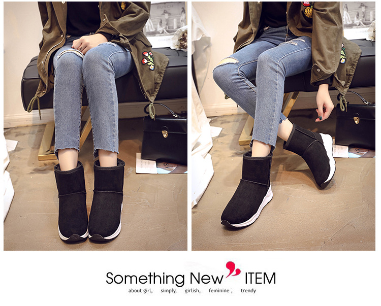 Winter Snow Boots Women Casual Shoes Slip On Warm Plush Women Ankle Boots Flat Heel Sport Ladies Shoes Booties Botas Mujer XZ82 (8)