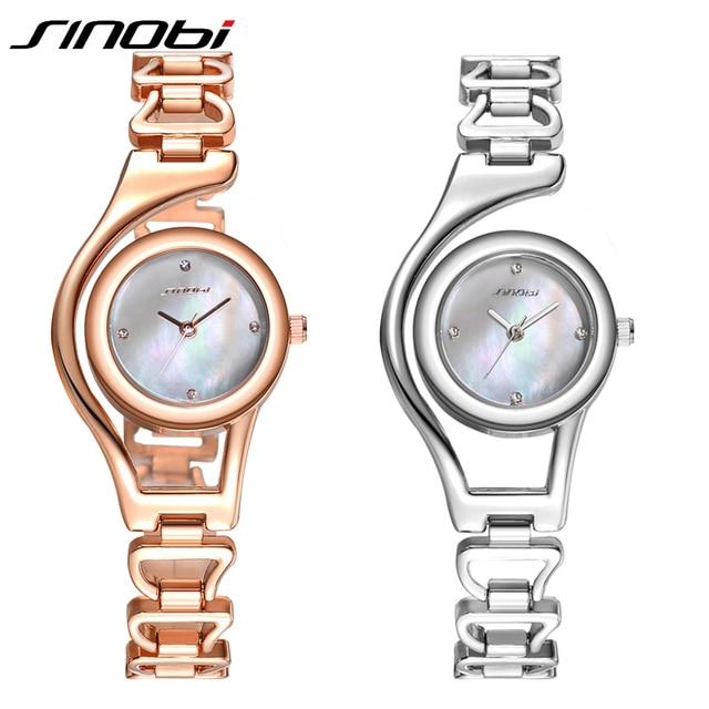 Rose Gold/ Silver Bracelet Quartz Stainless steel Women Wrist Watch 1