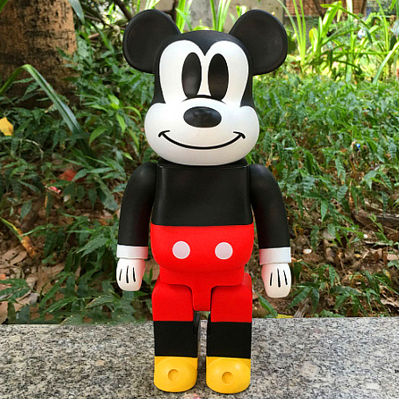 Lovely Mickey Mouse Action Figure PVC Doll Be@rBrick 400% 11 Inches Brian Street Art BFF Collectible Model Toy 28CM S215 new hot christmas gift 21inch 52cm bearbrick be rbrick fashion toy pvc action figure collectible model toy decoration
