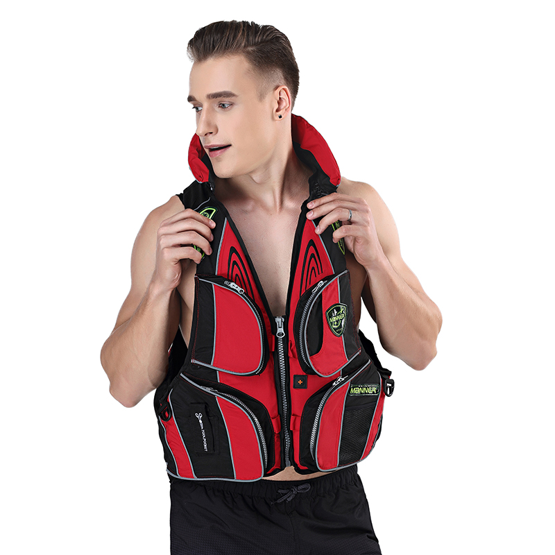 Manner Adult Swimming Life Jacket Multi-pocket Life Vest For Drifting Boating Survival Fishing Safety Jacket Water Sport Wear Back To Search Resultssports & Entertainment