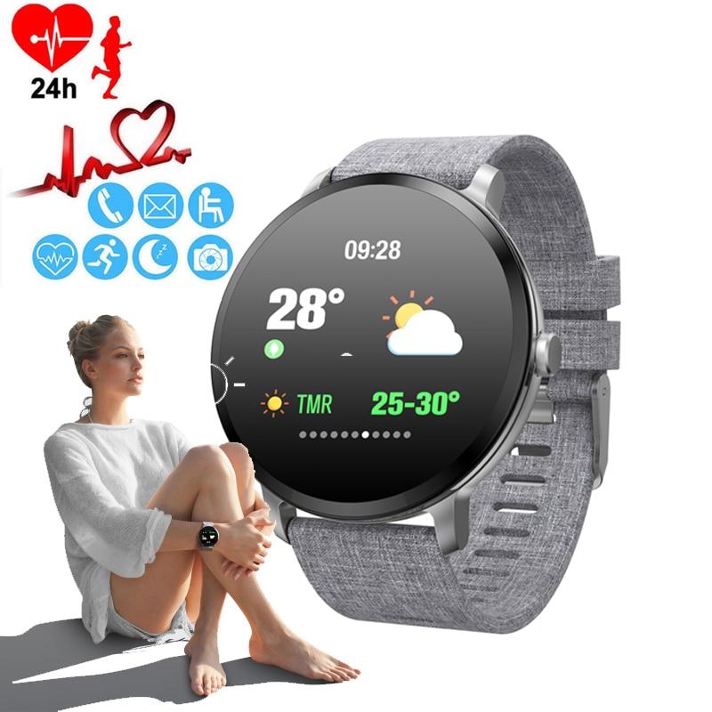 Women s Watch Blood Pressure Monitor Smart Watch Luxury Weather Forecast Bracelet Watch Phone Calorie Ladies