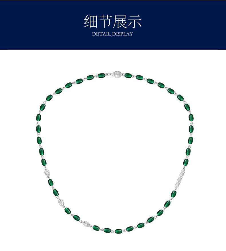ZOZIRI Real Sterling Silver green candy Necklace three bead ball candy choker Zircon Pendant for Women Brand Monaco Jewelry real sterling silver initial letter amour necklace red coral shell choker zircon name pendant for women brand monaco jewelry