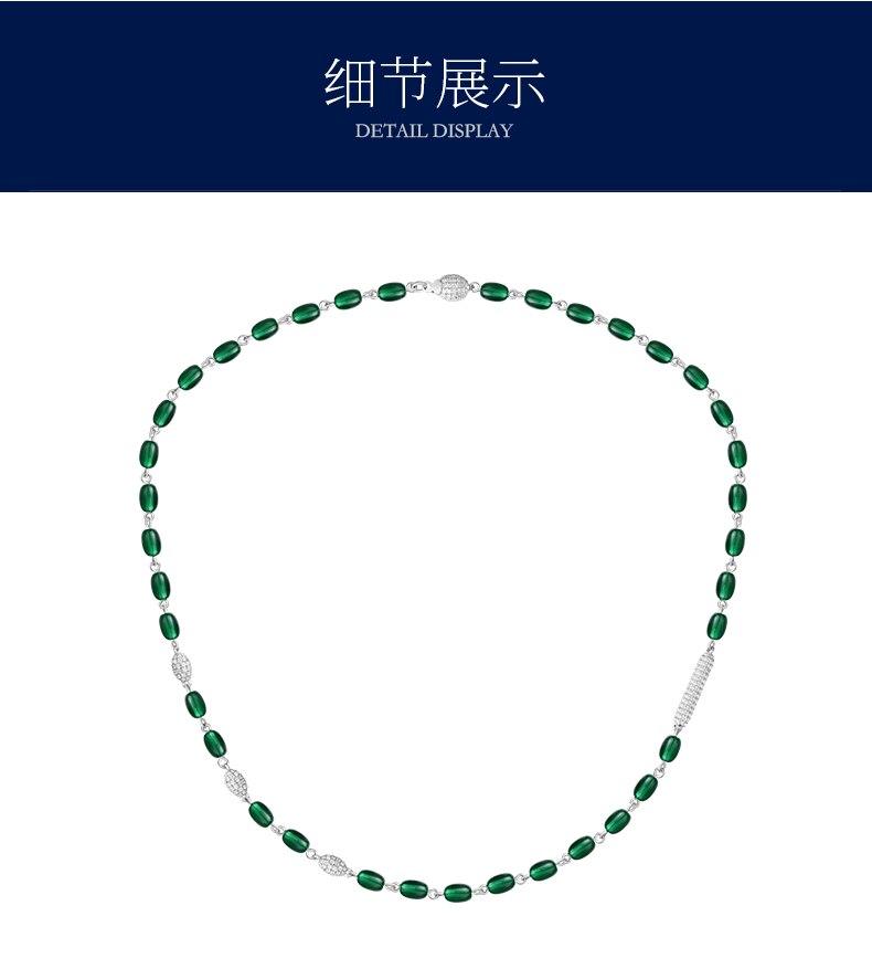 ZOZIRI collier de bonbons verts en argent Sterling véritable trois perles boule de bonbons ras du cou Zircon pendentif pour femmes marque Monaco bijoux