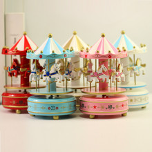 Carousel music box girlfriend birthday gift creative cartoon childrens toys home craft jewelry personalized gifts