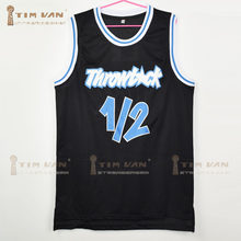 830c0bdf8dc TIM VAN STEENBERGEB Anfernee Penny Lil Penny 1/2 Throwback Black Basketball  Jersey All Stitched All Sewn-Red