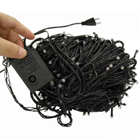 Thrisdar 100M 500 Christmas LED String Light Outdoor Fairy Lights String Black Wire Garden Patio Wedding Party Xmas Garland