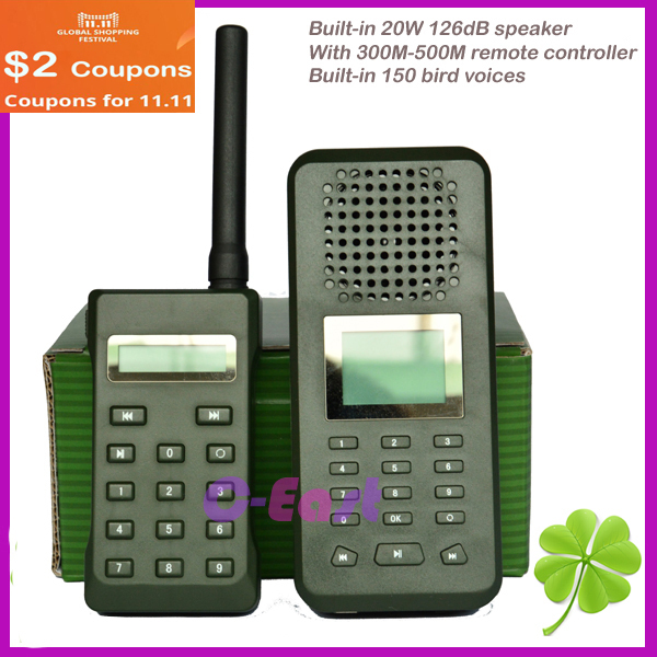 with 300-500M remote controller Hunting Bird Sound Mp3 player 20W hunting bird caller duck goose caller decoy