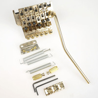 Gold Floyd Rose Double Locking Edge Electric Guitar Tremolo Bridge Systems With Whammy Bar New