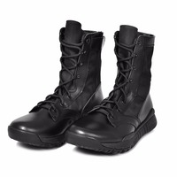 Side Zip Outdoor Army Men Shoes Special Force Military Tactical Boots Athletic Shoes Autum Desert Safety