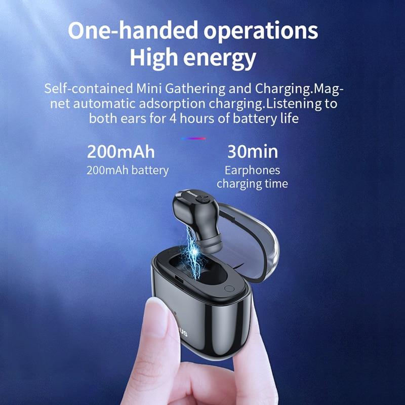 baseus w01 tws mini wireless bluetooth earphone with mic for handsfree call