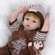 22 inch Soft Vinyl Silicone Bebe Reborn Baby Doll LifeLike Dolls Christmas Birthday Gifts Reborn Baby Dolls Girls Boys Toys