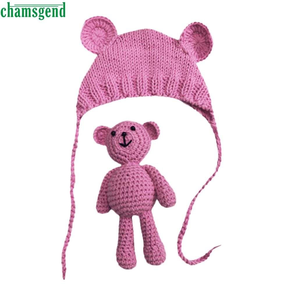 CHAMSGEND Newborn Baby Girl Boy Photography Prop Photo Crochet Knit Costume Bear +Hat Set mar29 p30 drop shipping scott millett professional asp net design patterns