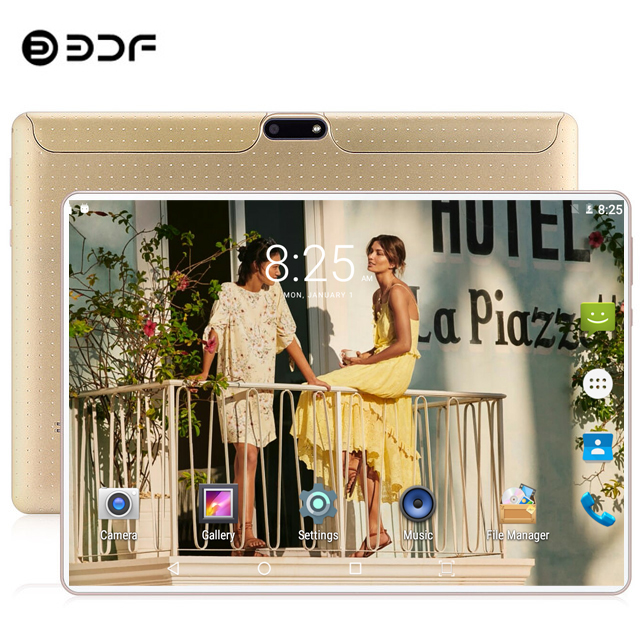 BDF 10 Inch Tablet Ten Core Android 9.0 Tablet Pc Original Design 3G/4G LTE Phone Tablet IPS WiFi 8GB+128GB Android Tablet 10.1