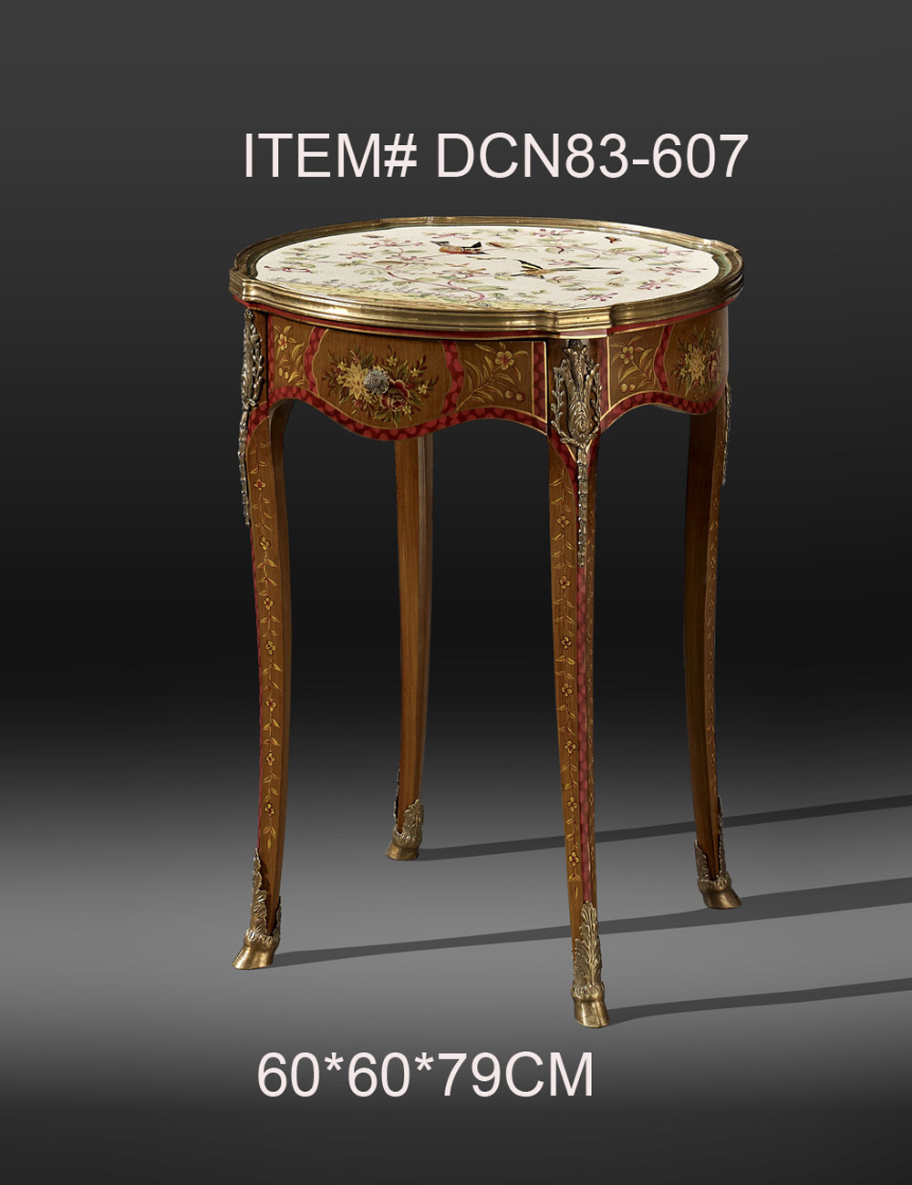 European style antique porcelain mosaic brass decorative