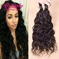Brasileiro do cabelo virgem natural onda 1 pc, alionly mink cabelo brasileiro weave bundles natural cabelo humano molhado e ondulado extensões de cabelo