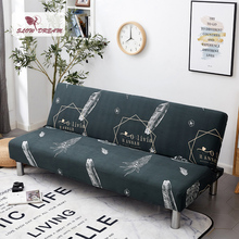 Slowdream Sofa Bed Cover Without Armrest Nordic Couch Cover Stretch Elastic Band Folding Cover Sofa Bed Home Decor Slipcover slowdream nordic style sofa cover elastic band couch cover stretch furniture single chair double love seat decor home slipcover