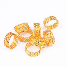 ETEREAUTY 30Pcs Micro Hair Braids Rings Micro Crimp Beads Dreadlock Beads Adjustable Braid Cuffs Clip for Hair Extensions(China)