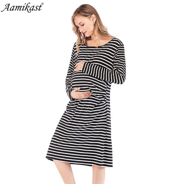 5b3a8b98979 Aamika Maternity Dresses Pregnant Dress Long Sleeve Sexy Knee-Lengt Maternity  Clothes For Pregnant Clothing Mom Vestidos Gravida