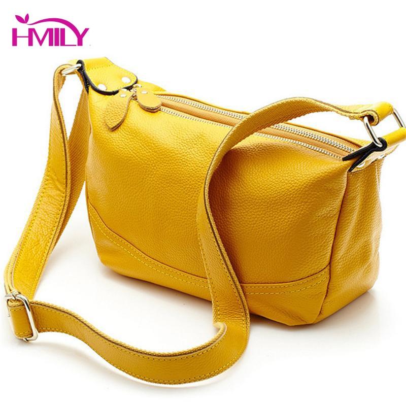HMILY Genuine Leather Women s Bags Candy Color Ladies Portable Shoulder Messenger Bag Bolsas Wholesale Tassel