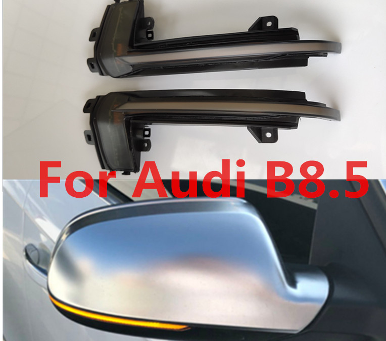 Car Side rearview Mirror Dynamic blinker For Audi A4 A5 S5 B8 5 RS5 RS4 scroll