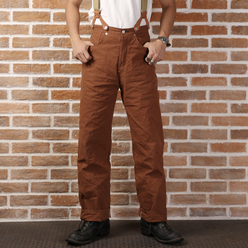 LOT873 Bronson Mans 11oz Straight High Waist Pants Vintage Canvas Pants
