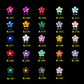 100 Pcs Janpanese 3D Prego Jóias Coloridas Flores de Resina Acessórios de Pérola Strass Liga Prego por UV Gel Nail Polish ML1567