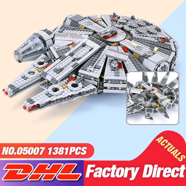 DHL 05007 05132 Star Toys Wars The 75105 Millennium Falcon Set 75192 Building Block Brick Assembly Toys Kid Christmas Gift