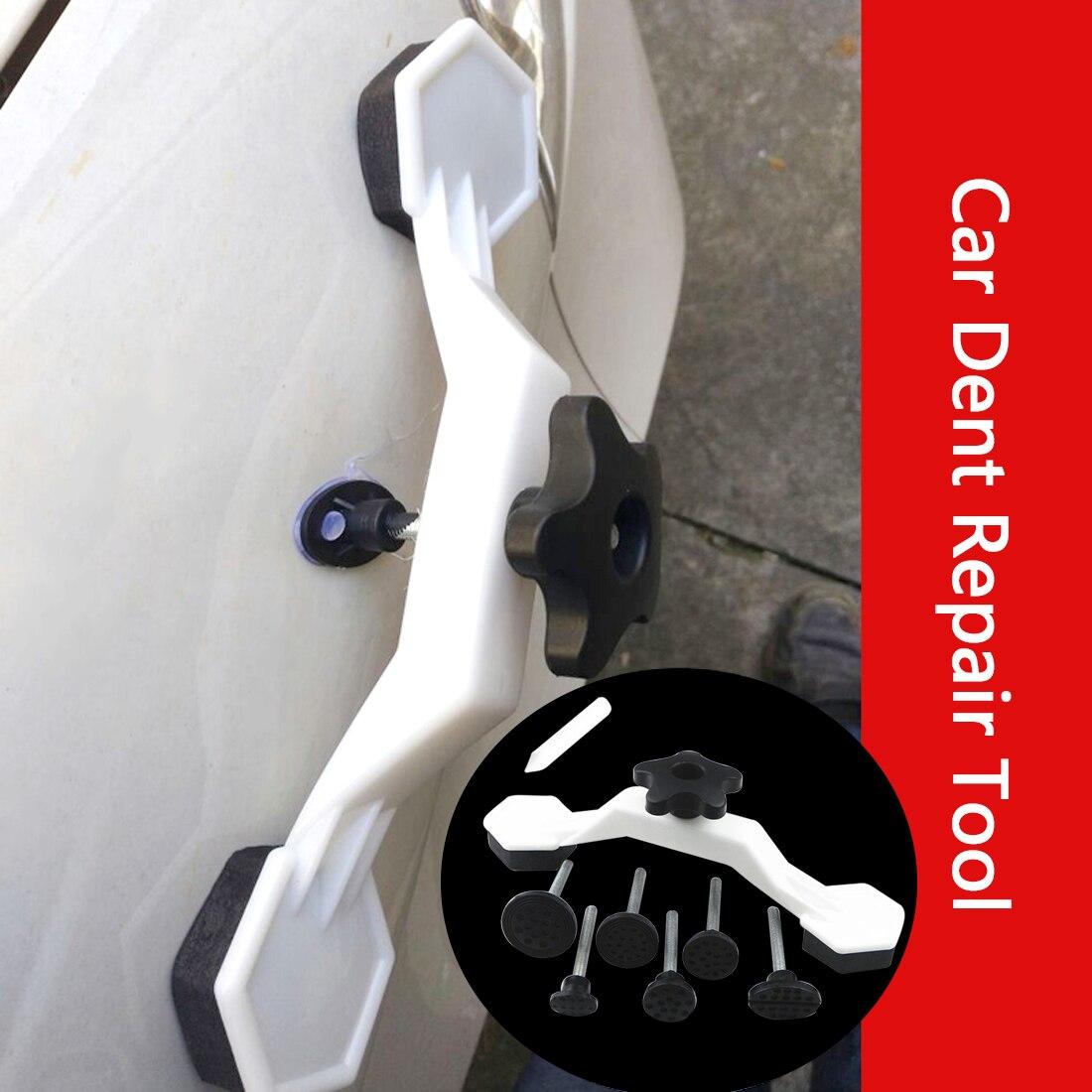Fix Dent Repair Tool Kit 8pcs Instrument Paintless Auto Car Body Damage Pulling Bridge Removal Glue Tab Tool Hand Tool Set Newly