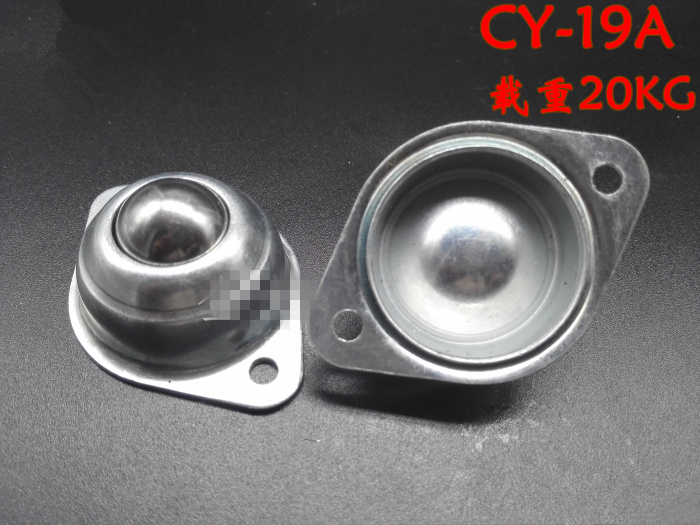 1/2/5Pcs 20kg Dia 19mm 3/4 Metal Ball or Nylon Ball Transfer Bearing Unit Conveyor Roller CY-19A Flange Mount Home Office 250kg heavy duty flange mount ball down facing roller ball transfer units ik 38b solid steel 360 ball caster
