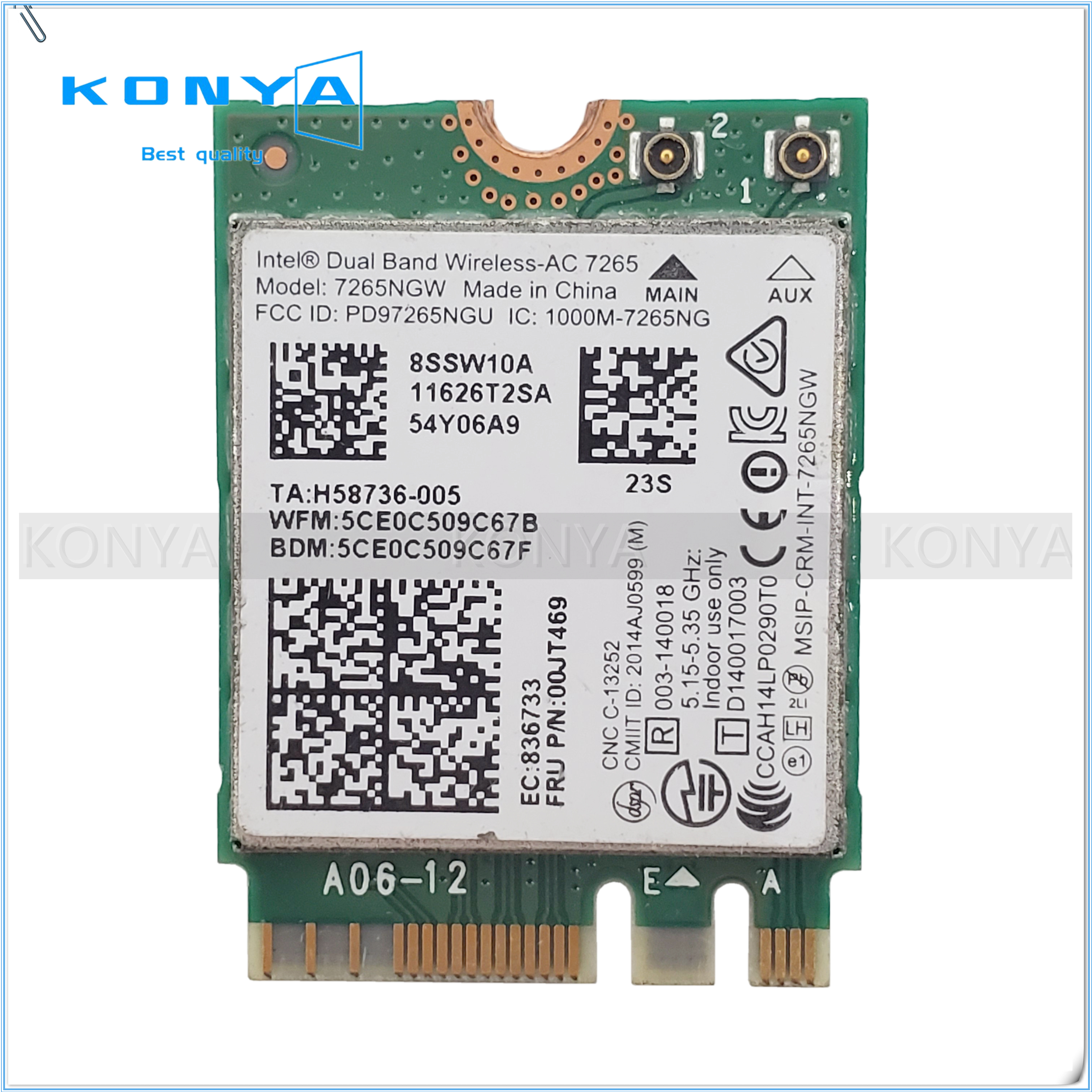 For Intel 7265 00JT469 For Lenovo ThinkPad X250 T450 T550 Dual Band Wireless-AC Card Wifi Bluetooth Network Card C26(China)